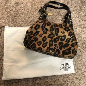 Coach Leopard print handbag